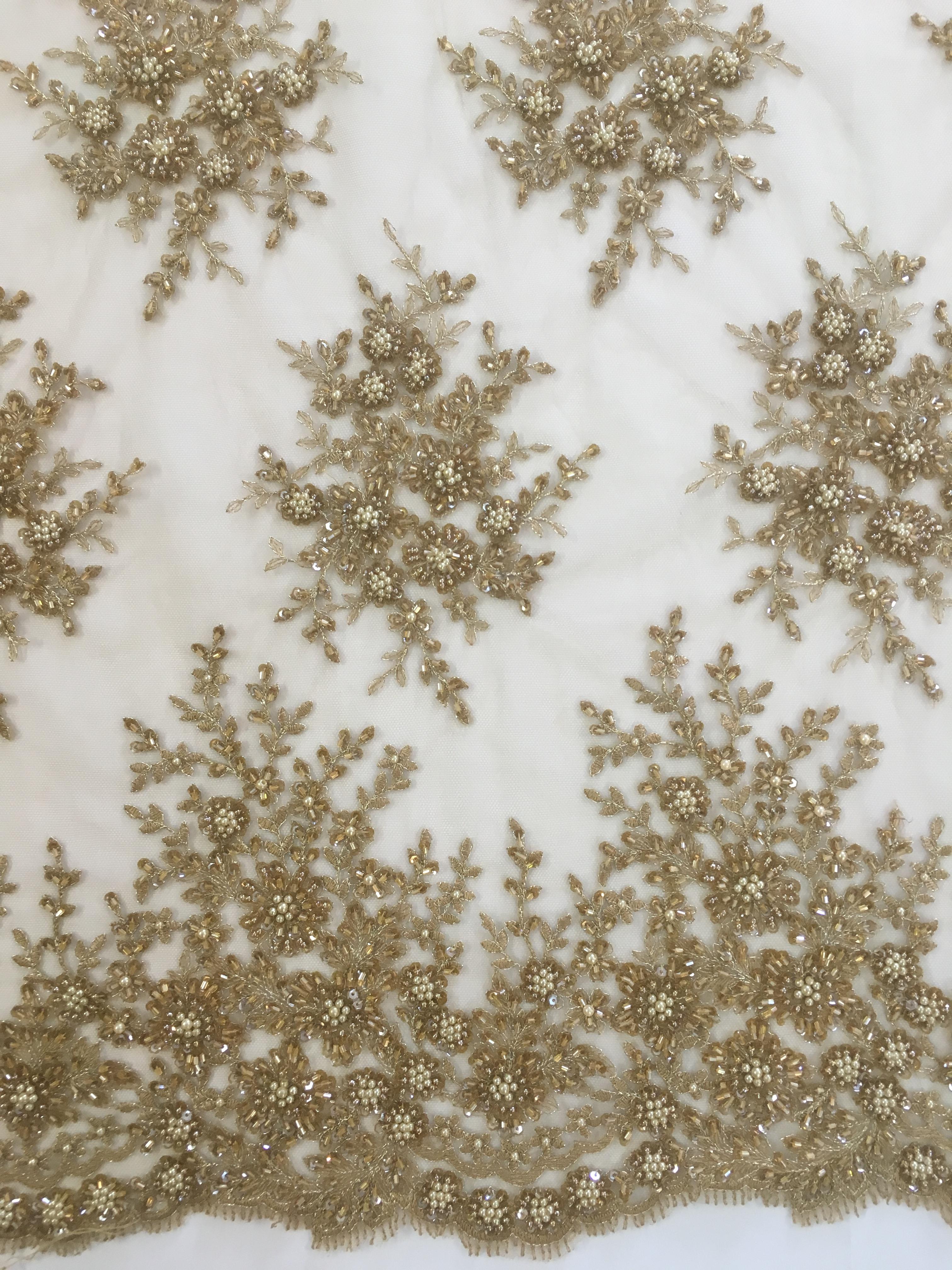 19b7ccb7059 Renda Bordada Dourada Escuro – Pannus Tecidos