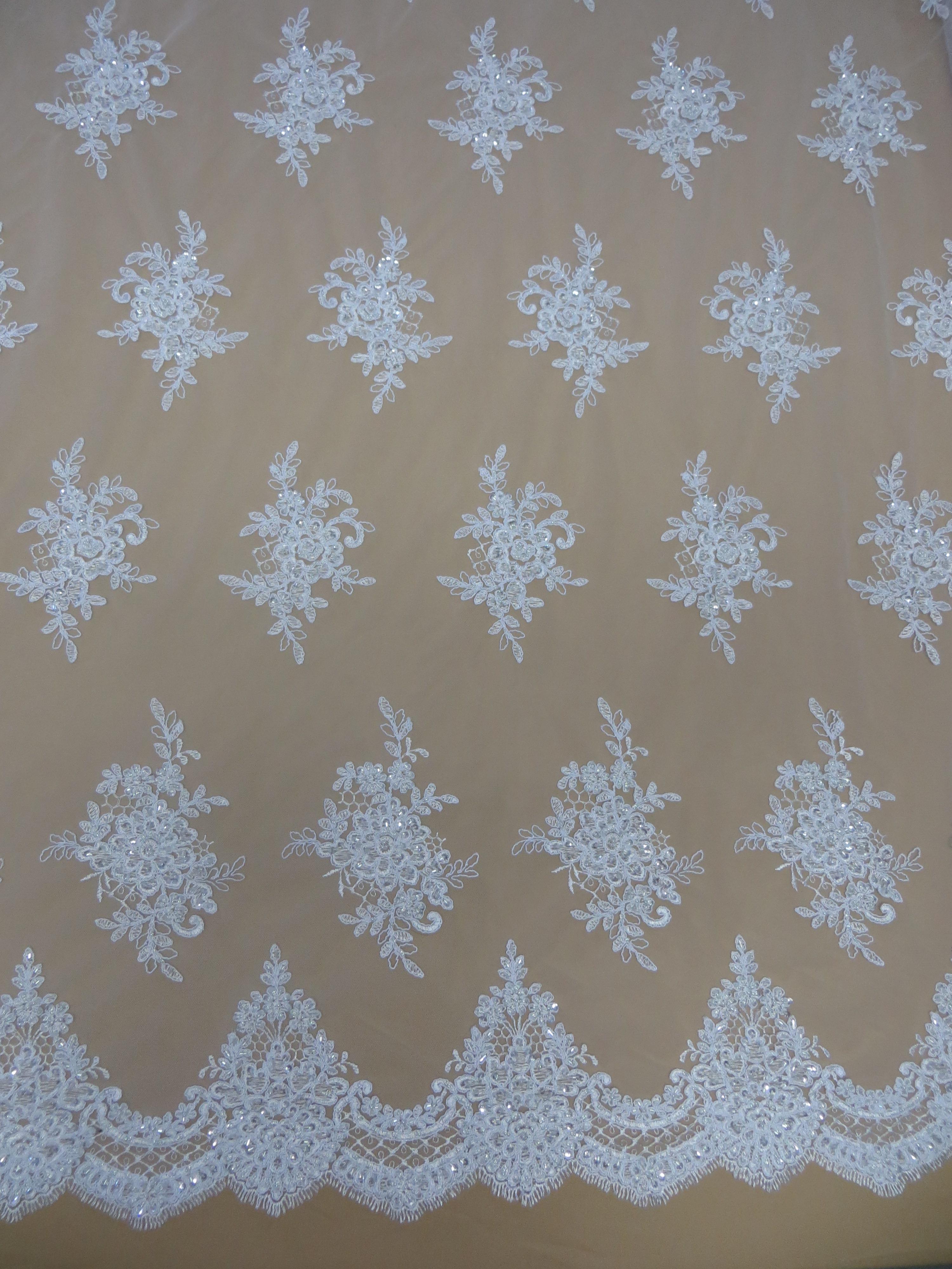 ade95e9926f Renda Bordada Branca – Pannus Tecidos