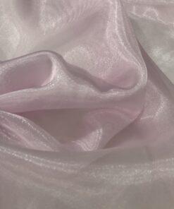 Organza Cristal Rosa Bebê
